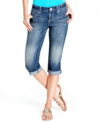 Get spring started right with INC's best-loved skimmer jeans. The cuffed legs gives them a charming, casual look!