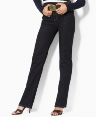 The straight-leg jeans you've been looking for, in a classic flattering fit from Lauren Jeans Co.