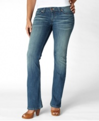 In a classic bootcut leg, these Levi's® Bold Skinny jeans offer a fitted look that's super flattering!