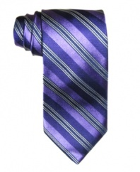 Let the stripes do the talking. This striped tie from Club Room will be a well-placed pattern in your wardrobe.