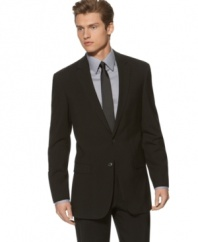 Clean lines and a sleek, modern finish make this Kenneth Cole New York suit a sweet upgrade for the modern man.
