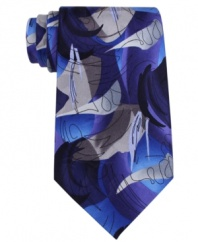 Add a note of artistic elegance to your outfit with this graphic tie from Jerry Garcia.