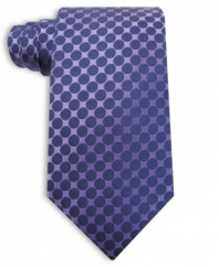 Tired of stripes and solids? Turn to this tonal polka dot from Perry Ellis for smooth, modern style.
