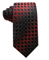 Sleek and contemporary, add this Alfani tie as a sharp update to your collection.