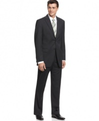 Tired of finding suits that are too loose or too tight? This athletic fit suit from Jones NY fits just right.