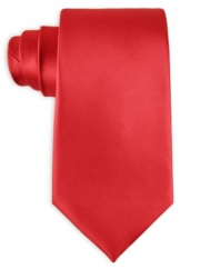 Smooth sophistication and modern convenience go hand in hand with this solid machine washable tie from John Ashford.