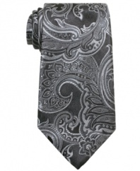 Add a pattern into your look. This paisley tie from Perry Ellis is a sophisticated take on a favorite.