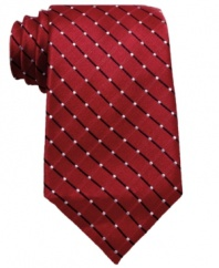 Pinpoint your dressed-up look with this grid tie from Geoffrey Beene.