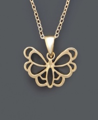 Fluttering and fabulous. Giani Bernini's whimsical butterfly pendant features an intricate open-cut design crafted in 24k gold over sterling silver. Approximate length: 18 inches. Approximate drop: 1/2 inch.