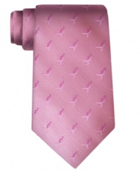 Raise awareness until there's finally a cure for breast cancer. This signature tie from Susan G. Komen is an empowering piece for every man.