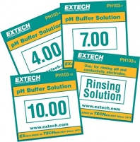 Extech PH103 Tripak Buffer Pouches 4, 7 and 10 pH with Rinse Solution Kit